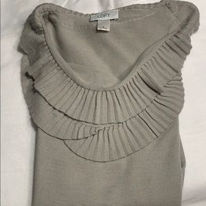Loft Soft Gray Merino Wool/Acrylic Sweater. S